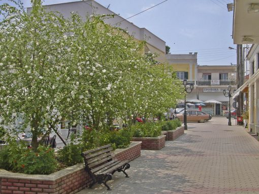 MAIN PEDESTRIAN STREET OF KASSANDRIA