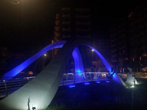 PEDESTRIAN BRIDGE IN TIRANA, ALBANIA