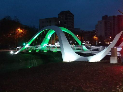 PEDESTRIAN BRIDGE IN TIRANA, ALBANIA