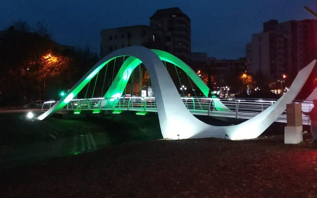 Ολοκλήρωση πεζογέφυρας στα Τίρανα, Αλβανία
